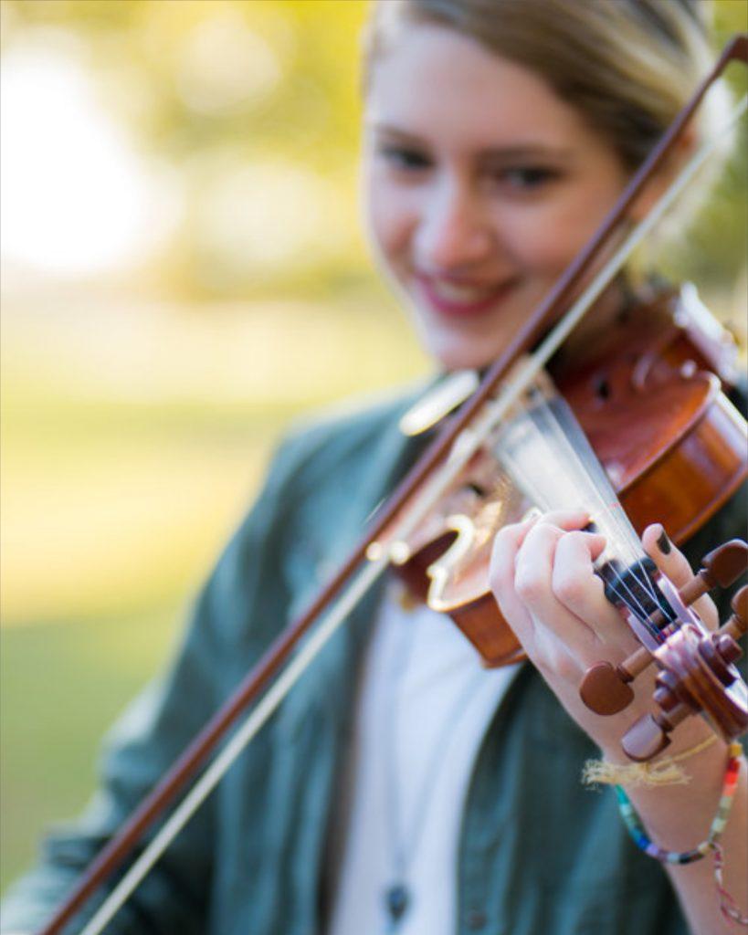 Senior graduating with violin